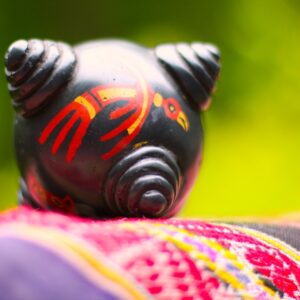 Painted chumpi stone | Sacred Center Mystery School and Healing Center
