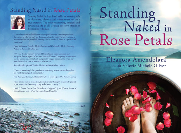standing Naked in Rose Petals