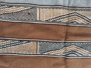 handwoven cloth made by Andean weavers   Peru