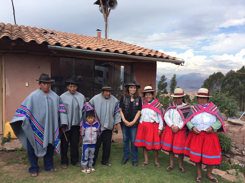 Eleanora and members of the Misminay Community, Moray, Peru